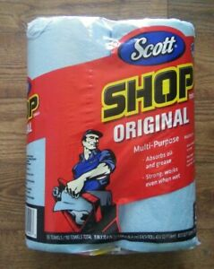 Scott Original Blue Paper Shop Towel Roll 2 Pack (55 Sheets per Roll) NEW!