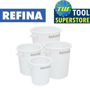 Refina Large Plastering Rendering Plaster Mixing Bucket & Cleaning Brushes