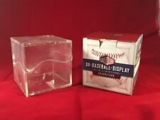 ^Baseball Holder Acrylic Grandstand Cube Deluxe Display Clear Storage Case Stand