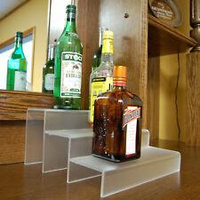 Liquor Bottle Shelf 12-inch 3 Tier - Translucent - Bar Pub Drink Display Decor