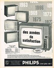 PUBLICITE ADVERTISING 014   1963   PHILIPS   téléviseur
