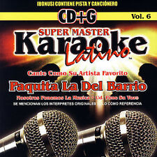 Paquita La Del Barrio : Super Master Karaoke Latino: Cante Como CD