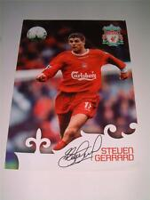 LIVERPOOL FC LEGEND STEVEN GERRARD RARE ORIGINAL OFFICIAL FACT CARD/POSTER