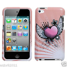 Apple iPod Touch 4 Snap-On Hard Case Cover Accessory Crowned Heart Pink
