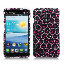 For LG Optimus F7 US780 Crystal Diamond BLING Hard Case Cover Leopard Pink