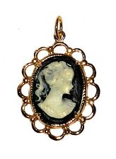 Girl W/ Ponytail /Pendant/Necklace Lovely Cameo