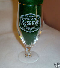 "Brewmaster Reserve ""Limited Release"" Stemmed Beer/Bar Glass-Gold Rim-ARC Int'l"