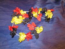 Deutschland Blumenkette schwarz/rot/gold - Neu - ca. 90cm - Blumen Kette