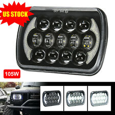 H6054 LED Headlight 5x7 7x6 Headlamp for Jeep YJ XJ Chevy Express Van Ford Truck