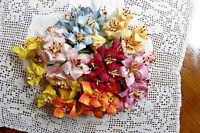 LILLY 7 Colour Mix 6 ea colour - 42 Pk Mulberry Paper 30x35mm & 10cmStem S2S
