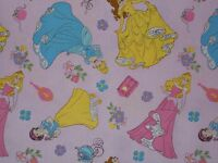 Disney Princess Toss on Dots Quilting Fabric 100% Cotton Fat Quarter By the Yard