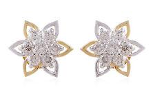 Classy 0.65 Cts Round Brilliant Cut Diamonds Stud Earrings In Solid 14Karat Gold