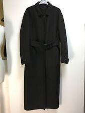 Burberry Prorsum black brown herringbone bonded cashmere long coat S fits M