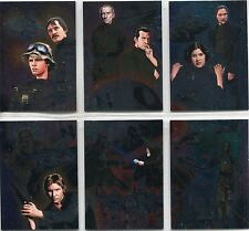 Star Wars Illustrated A New Hope Complete Etched Foil Puzzle Chase Card Set 1-6