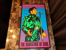 James Brown Rare Hand Signed Poster Lithograph Godfather of Soul Jim Andrews COA