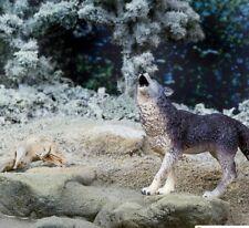 GRAY WOLF howling  Safari Ltd # 273829  North American Wild Animal Replica NWT