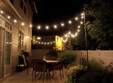 Vintage String  Lights G40 25 Clear Globe Bulbs Wedding Party Decor Garden EU