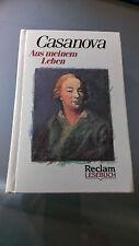 BUCH - Aus meinem Leben von Giacomo Casanova, Reclam Erstausgabe 1989, Gebunden