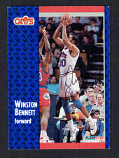Winston Bennett #261 signed autograph auto 1991-92 Fleer Basketball Trading Card