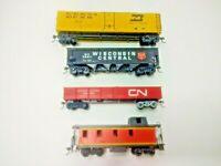 HO Scale Lot of 4 Bachmann Cars - Hopper, Gondola, Reefer & Caboose - Rail Chief