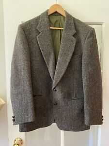 Vintage Harris tweed 100% wool Blazer Jacket Coat 42S