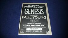 More details for genesis live wembley 1987 full page press advert poster size  37/26cm