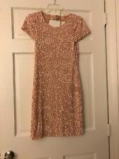 Alice & Olivia Pink Sequin Cap Sleeve Dress