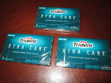 Trident Xtra Care Cool Mint Gum ~*~36 sealed collector packs~*~Discontinued RARE