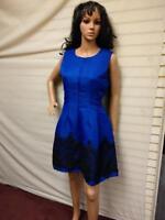 Ladies Party Dress AX Paris Lace Cocktail Party Perfect Size 14 UK Cobalt Blue