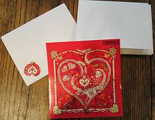 2013 French Postage Stamp Set La Poste Hermes De Tout Coeur Scarf RARE & card