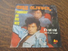 45 tours gary glitter remember me this way