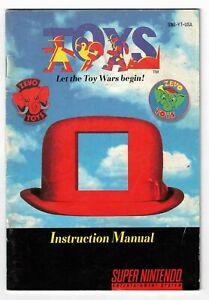 Toys (SuperNintendo, 1993) Instruction Booklet ONLY