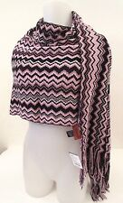 Missoni Orange Label Wool blend X-Long  zig-zag scarf  NEW WITH TAGS