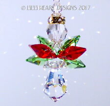 m/w Swarovski Vintage Christmas Angel Suncatcher Car Charm Lilli Heart Designs