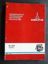 """DEUTZ """" FL 812 Engine """" Original 1975 WORKSHOP / REPAIR MANUAL rare"""