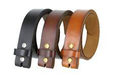 Genuine Leather Belt Strap Casual Belt Snap 1-1/2