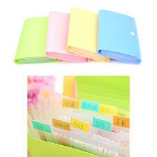 New Mini Office File Document Bag Pouch Bills Folder Card Holder Fastener SK