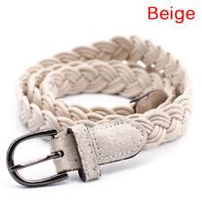 Women Fashion Elastic Cinch Belt  Wide Stretch Waist Band Hemp Rope Braid B Ww