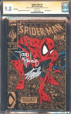 SPIDER-MAN 1 TORMENT GOLD VARIANT CGC 9.8 2X SS SIGNED STAN LEE TODD MCFARLANE