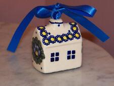 Genuine UNIKAT Polish Pottery House Ornament! Mila Pattern