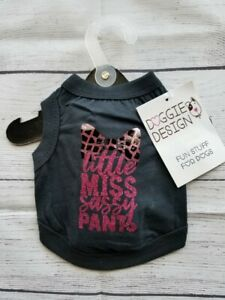 Doggie Design Jet Black Dog Tank - Little Miss Sassy Pants