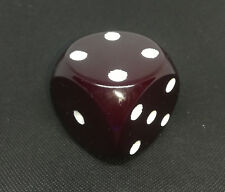 VINTAGE ART DECO CHERRY RED AMBER BAKELITE BLUE INSIDE DICE ZARLAR 138 GRAMS