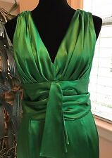 Eliza J Green Satin Dress Size 10