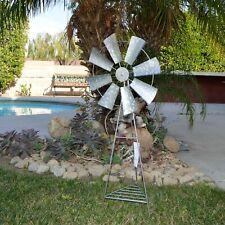 "32"" Tall Windmill Outdoor Patio Yard Garden Galvanized Metal Decor All Weather"