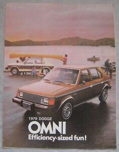 1979 Dodge Omni (USA) fouldout Brochure publication number DO5C-79-E