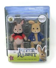 Peter Rabbit & Flopsy Poseable Mini Figure Set Official Movie Collectible Toy
