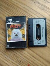 Riot Fire Down Under Cassette Tape