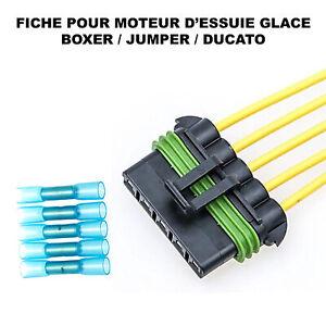 Prise Connecteur Faisceau pour Moteur d'Essuie Glace Jumper Boxer Ducato 6405ER
