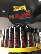 Raw Black Clipper Lighter Gas Refillable Collectable Rawthentic (rare)