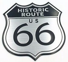 Historic US State Route 66 Badge 3D Car Motorbike Harley Road Sign Trip Sticker